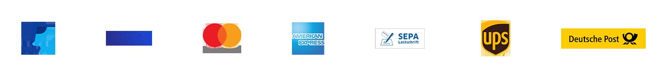 Zahlung via: PayPal, Visa, Mastercard, American Express, SEPA-Lastschrift oder Vorkasse. Versand via UPS oder Deutsche Post.
