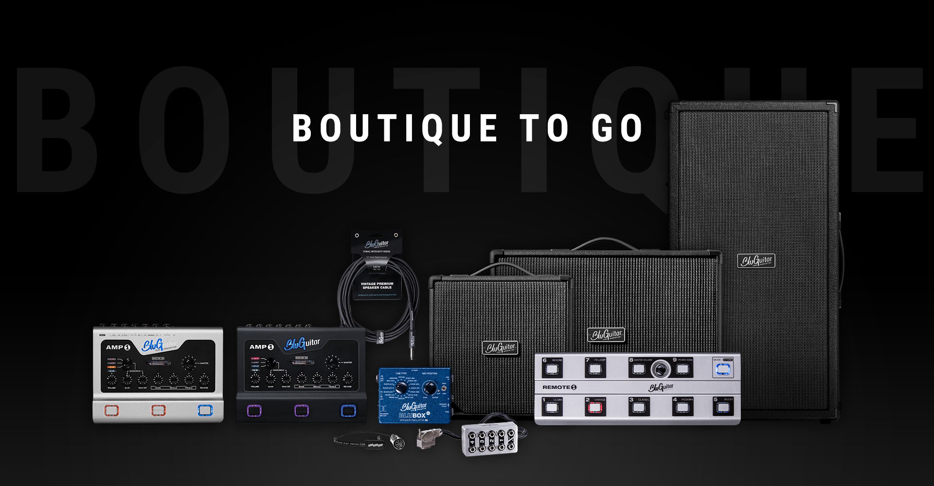 Go to the BluGuitar product range